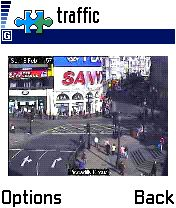 Traffic cam app: Piccadilly Circus